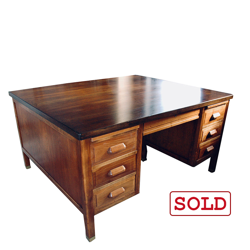 restored antique partners desk